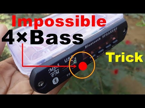4×Bass Impossible Trick For Any Home Theater   amplifier bluetooth speaker usb sd mp3 player