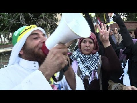 Egypt Islamists rally ahead of Morsi trial