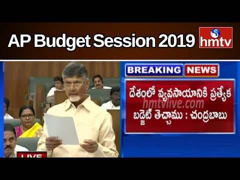CM Chandrababu Speech On Agriculture In AP Assembly 2019 | hmtv