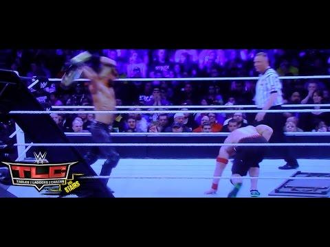 WWE TLC 2014 John Cena vs. Seth Rollins Tables Match Full Match Review - Roman Reigns WWE TLC RETURN