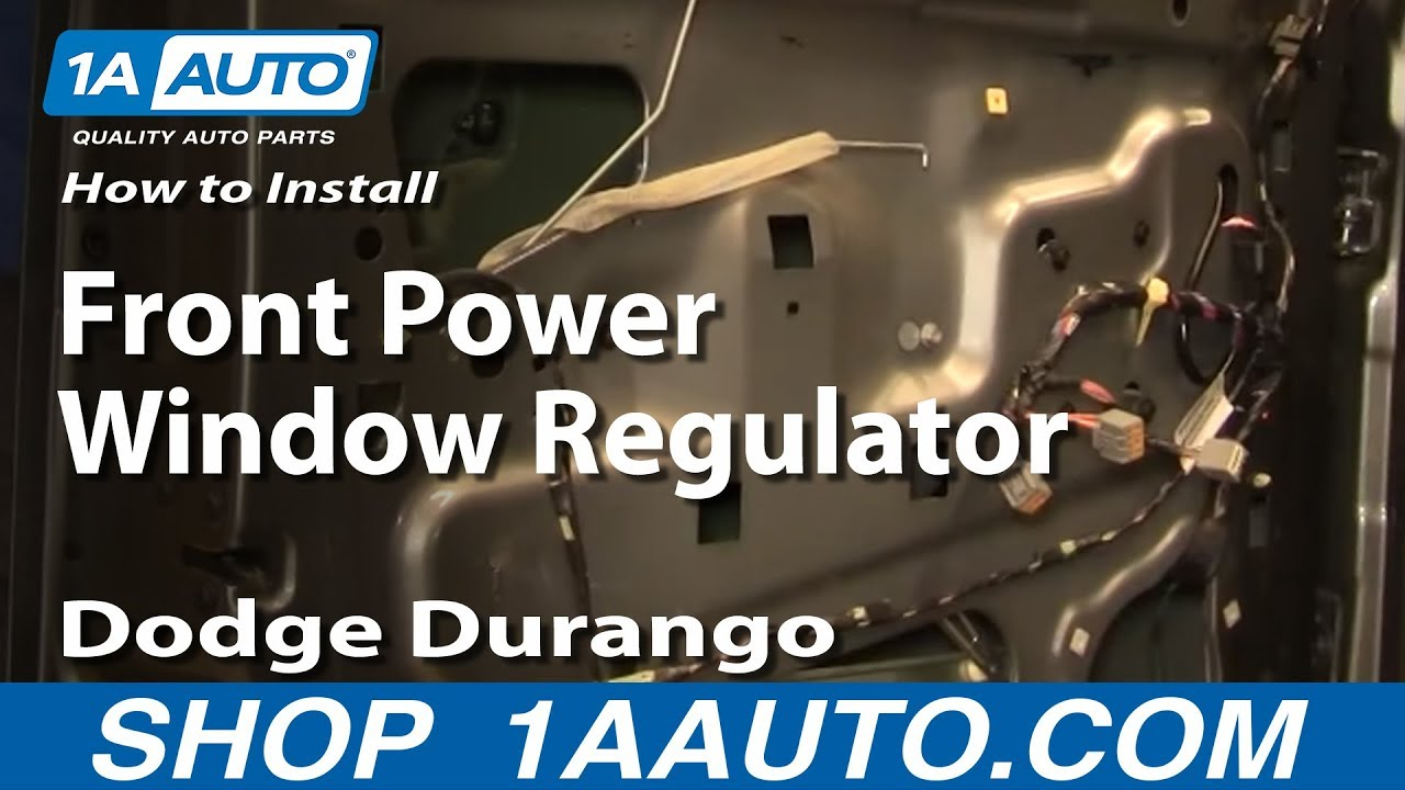 How To Install Replace Front Power Window Regulator Dodge