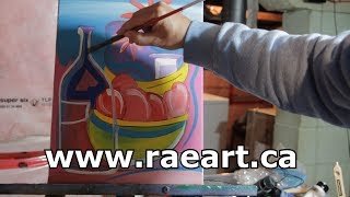 How to Paint Still Life Fruit and Wine with RAEART 2019