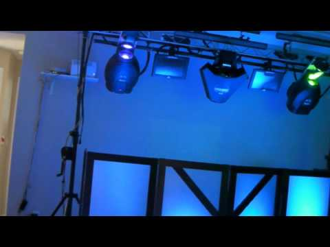 Martin MX-10 Scanners with DJ Glow booth DJ Facade.wmv