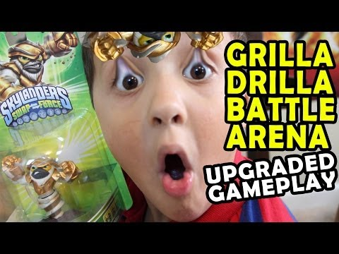 Skylanders Swap Force: Grilla Drilla - Solo Battle Mode - Chomp Chomp Chompies (Gameplay + Unboxing)