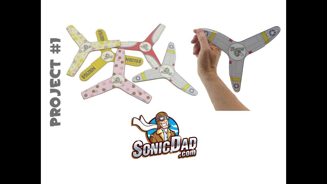 Indoor Boomerang - SonicDad Project #1 - YouTube