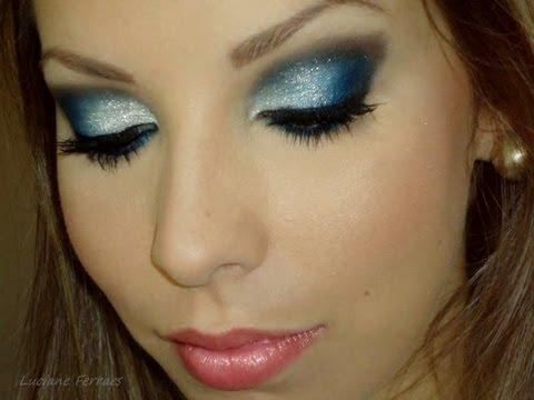 Azul com prata, com Luciane Ferraes