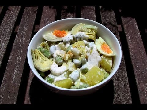 Ensalada griega de patata