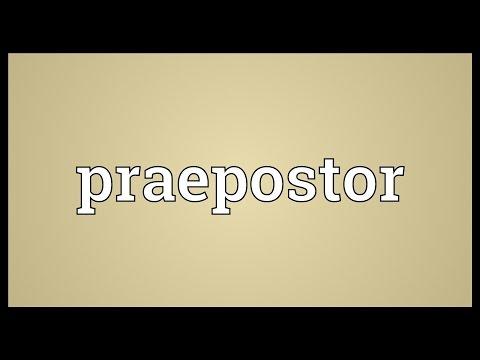 Header of praepostor