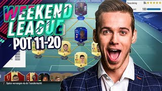 WE TESTEN ONZE NIEUWE STER IN DE WEEKEND LEAGUE!!😍 - POT 11 T/M 20