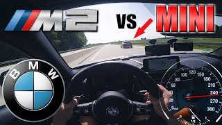 BMW M2 meets ANGRY Flashing MINI on German Autobahn✔
