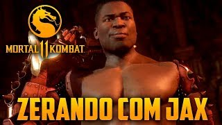 Mortal Kombat 11 - Zerando Com JAX no Hard, o Personagem MAIS BRUTO de Todos
