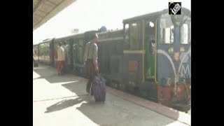 India News - Tourists enjoy joy ride in famous toy train in eastern India