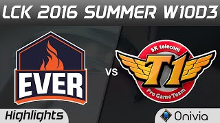 ESC vs SKT Highlights Game 1 LCK Champions W10D3 2016 ESC Evers vs SK Telecom