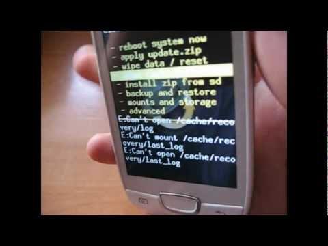Como instalar Clockworkmod Recovery en un Galaxy Mini