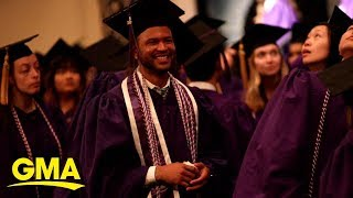 Man graduates with nursing degree from the same college where he started as a janitor  | GMA Digital