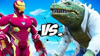 IRON MAN VS THE LIZARD - Iron Man Mark 50 vs Lizard