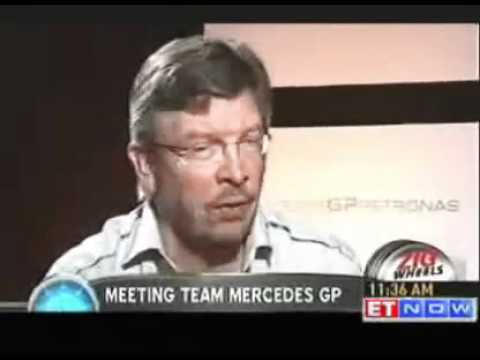 Formula 1 Team principal Ross Brawn chat