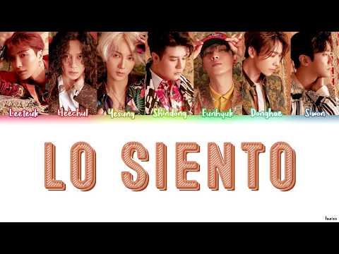 SUPER JUNIOR FT. LESLIE GRACE (슈퍼주니어) - LO SIENTO Lyrics (HAN/ROM/ENG)