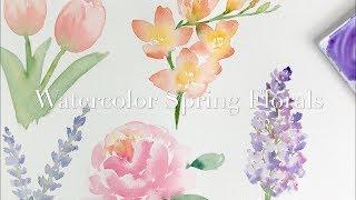 Watercolour Spring Florals