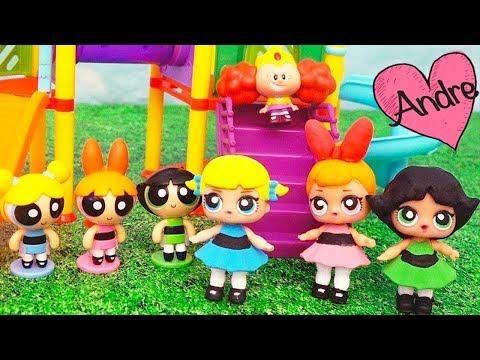 Bebes LOL Surprise se hacen Chicas Superpoderosas | Muñecas y juguetes con Andre para niñas y niños