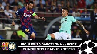 BARCELONA 2-1 INTER | HIGHLIGHTS | Matchday 02 - UEFA Champions League 2019/20