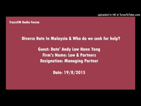 Divorce Rate In Malaysia & Who do we seek for help @ TraxxFM Radio Station