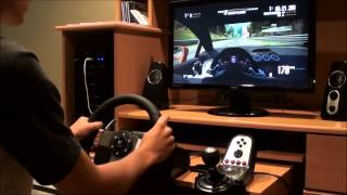 Driving Lambo In NFS Shift 2 With Logitech G27 Wheel+Max Graphics Settings
