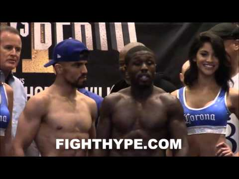 VICTOR ORTIZ VS. ANDRE BERTO OFFICIAL WEIGH-IN AND FINAL FACE OFF