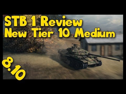 ► World of Tanks STB-1 Review   8.10 Patch   Meet The Monster on New Map
