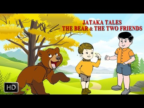 Jataka Tales - The Bear & The Two Friends - Short Stories For Children - Animated Cartoons kids video