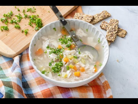 Healthy Dinner Recipes  How To Make Homemade Chicken Soup And Rice   Weelicious