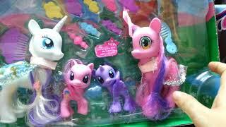 Khui đồ chơi mới, bộ LY TÁCH HOÀNG GIA, gia đình PONY, Ngựa pony đẹp,