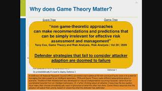 CSIAC Webinar - A Model-based Game Theoretic Approach for Mitigating Cyber Risk
