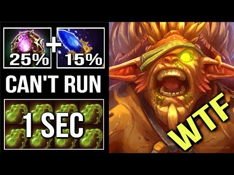 WTF CAN'T RUN 1s Viscous 40% Lifesteal Fountain Can't Kill Him Scepter Bristleback Top 1 MMR Dota 2