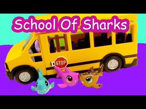 LPS - Bus Ride - School Of Sharks Series Video Littlest Pet Shop Part 1