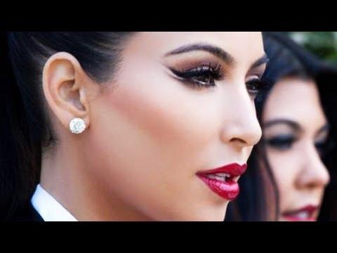 Kim Kardashian Winged Eyeliner
