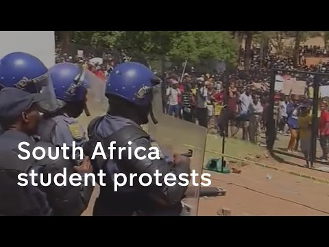 South Africa student protests  - live from Pretoria