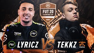 FNATIC TEKKZ VS FUTWIZ LYRICZ XBOX CONSOLE FINAL! FUT 20 CHAMPIONS CUP 1 BUCHAREST!
