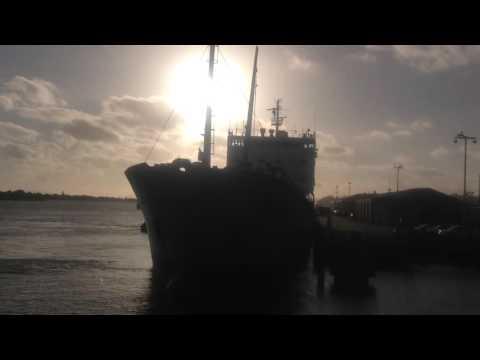 Westport berthing at Onehunga, 19 January 2016, circa 1930 hrs