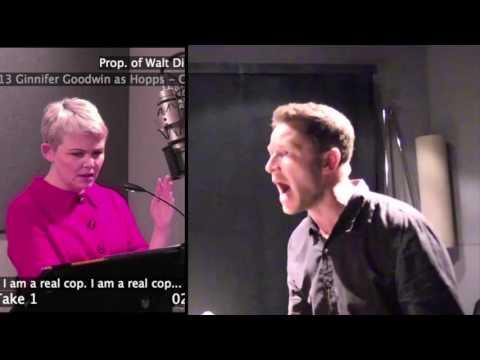 Recording Zootopia With Ginnifer Goodwin and Josh Dallas