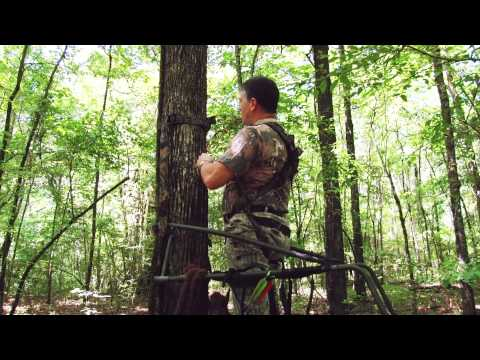 How to safely install and use a climbing tree stand