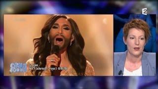 Conchita Wurst barbe Natacha Polony - On n'est pas couché 17 mai 2014 #ONPC