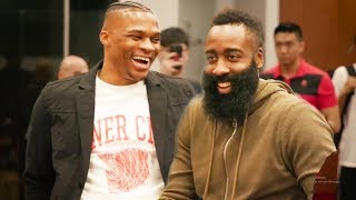 Russell Westbrook Meets James Harden !!