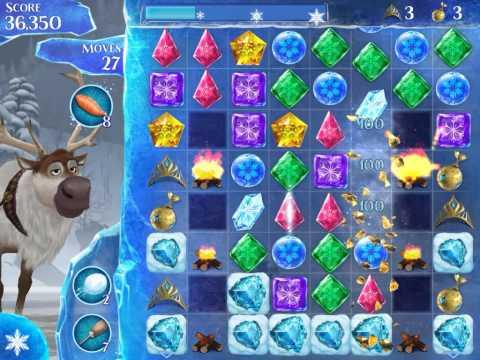 Frozen Free Fall Level 240 Live Action Play Walkthrough