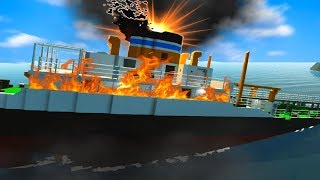 SINKING THE BIGGEST SHIP?! (Stormworks Gameplay Roleplay) Sinking Ship Survival Disaster!