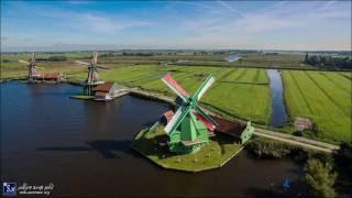 Zaanse Schans - Netherlands drone 23.9.19