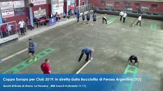 La Perosina-Brb Ivrea, Coppa Europa Club - volo