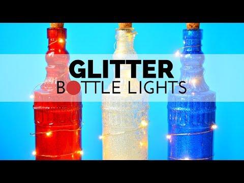 How to Make Glittered Bottle Lights