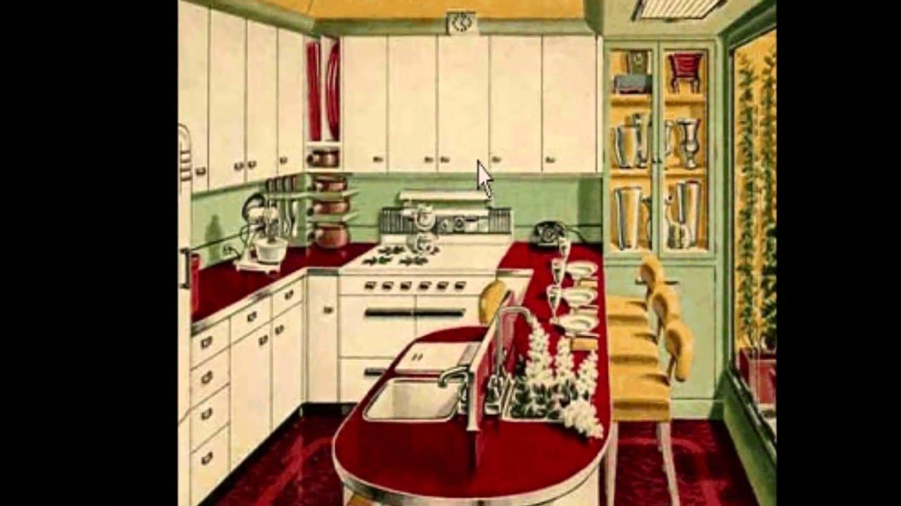 Cocinas estilo retro con mucho encanto youtube - Muebles de cocina estilo retro ...