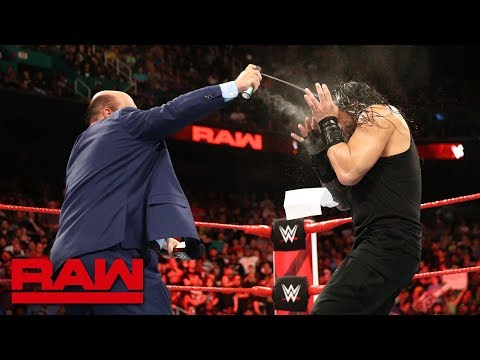 Paul Heyman and Brock Lesnar ambush Roman Reigns: Raw, Aug. 13, 2018 thumbnail